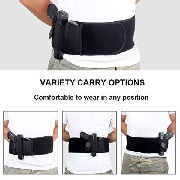 UNKNOK  4 UNKNOK Belly Band Holster Fit Most Gun Comfortable Hidden Tactical Holster Left and Right Universal Waistband Handgun Carry for Concealed Carry IWB Gun Holsters for Men and Women