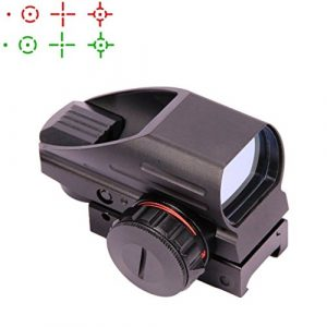 UUQ Airsoft Gun Sight 1 UUQ Tactical Holographic Red Green Reflex Scope Sight 4 Reticles