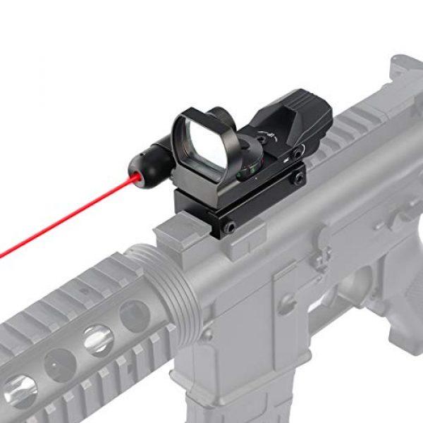 Feyachi Airsoft Gun Sight 5 Feyachi RSL-18 Reflex Sight - 4 Reticle Red & Green Dot Sight Optics with Integrated Red La-ser Sight Less Than 5mW Output