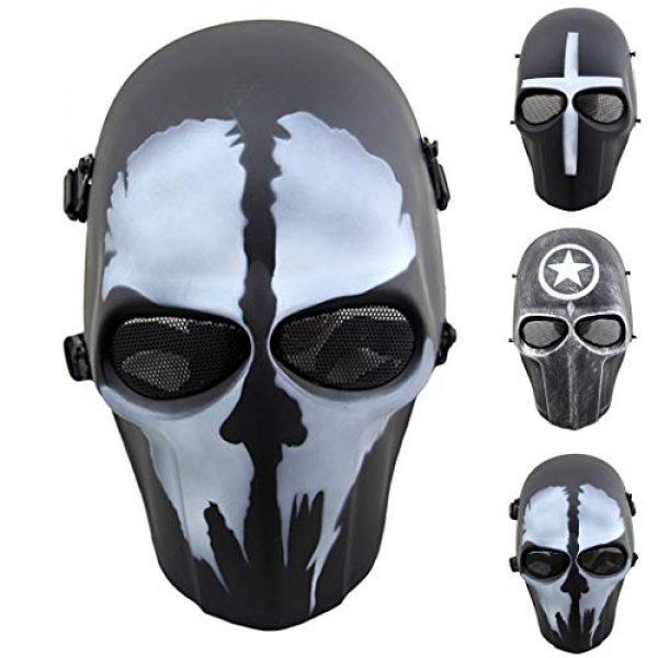 Outgeek Airsoft Mask 1 Outgeek Airsoft Mask Full Face Protective Mesh Mask Skull Mask for Costume