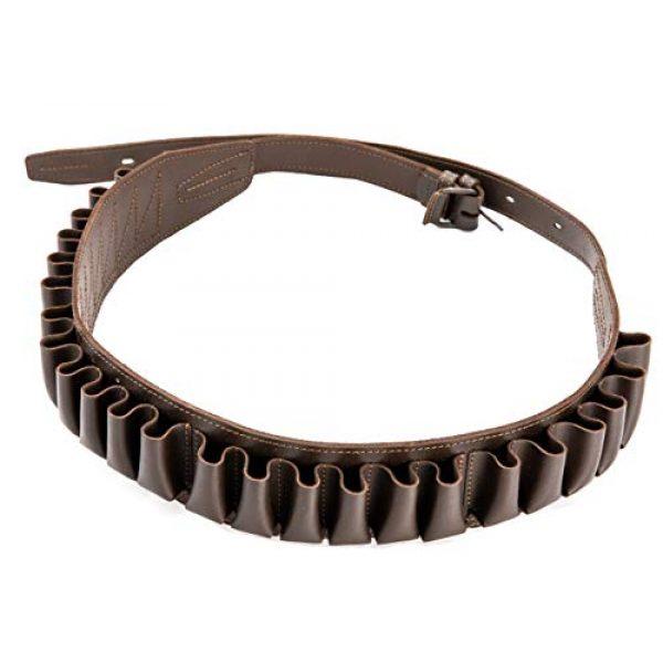 CKG  2 Genuine Leather Shotgun Cartridge Belt 12/16 Gauge - Tactical Shooting Gun Bullet Waist Belt - Ammo Holder Combat Hunting - 24 Shell Holder-Brown Color