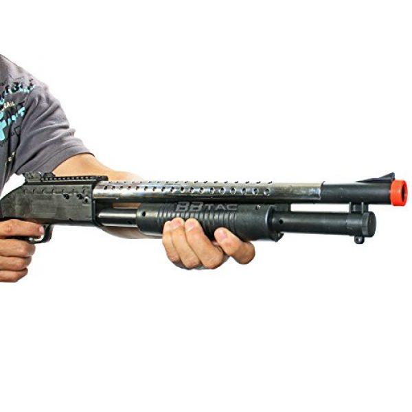 BBTac  2 bbtac airsoft shotgun pump action (starter shotgun series) - pistol grip airsoft shotgun - high bb capacity - 300 fps+ w/ 6mm 0.12g bbs with bbtac warranty & tech support(Airsoft Gun)