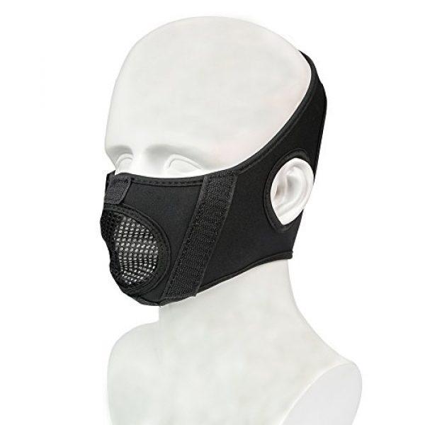 Knight Half Face Metal Mesh Masks Hard Plastic Masks