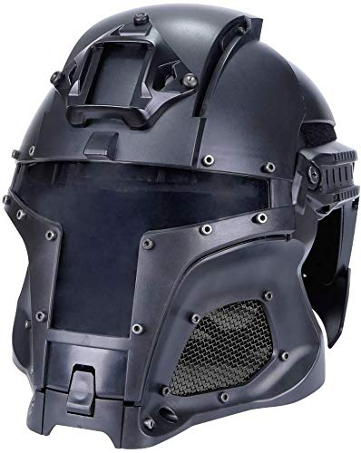 Hunting Explorer Airsoft Helmet 3 Hunting Explorer Tactical Military Ballistic Helmet Side Rail NVG Shroud Transfer Base Sports Army Combat Airsoft Paintball Full Face Mask Helmet Protective Gear
