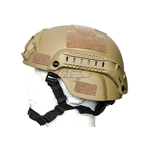 Lancer Tactical Airsoft Helmet 3 Lancer Tactical MICH 2000 SF Helmet (Tan)