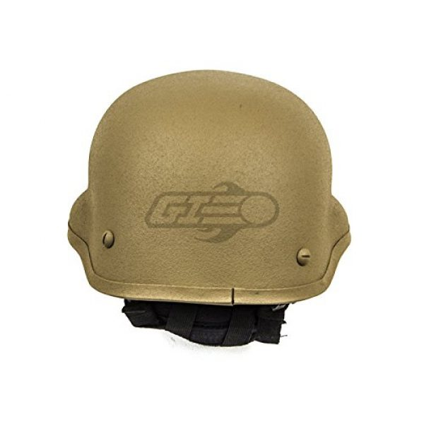 Lancer Tactical Airsoft Helmet 4 Lancer Tactical CA-727 MICH 2002 Safety Airsoft Helmet w/ NVG Mount (Tan)