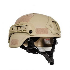 iMeshbean Airsoft Helmet 1 iMeshbean MICH 2000 Style ACH Tactical Helmet with NVG Mount and Side Rail Adjustable Sponge Padding Adjustable Suspender Straps