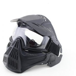 A&N Airsoft Mask 1 A&N Full Face Mask Airsoft Paintball Sports Protection with Goggles Attached Black