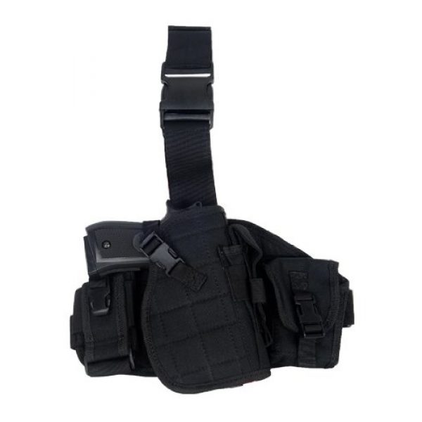 Lancer Tactical  1 Lancer Tactical CA-324 MOLLE Platform Drop Leg Airsoft Gun Holster (Black)