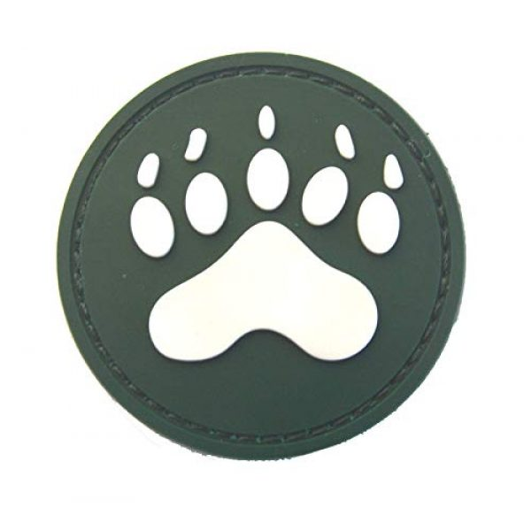 Morton Home Airsoft Patch 1 Morton Home Bear Claw Patch | Airsoft Paintball Tactical Military Rubber Badges PVC Rubber 3D Morale (Green)