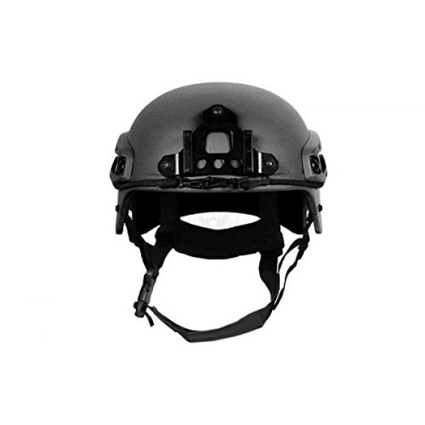 G-Force Tactical IBH Airsoft Helmet 4 G-Force Tactical IBH Airsoft Helmet w/ NVG Shroud & Side Rails - BLACK