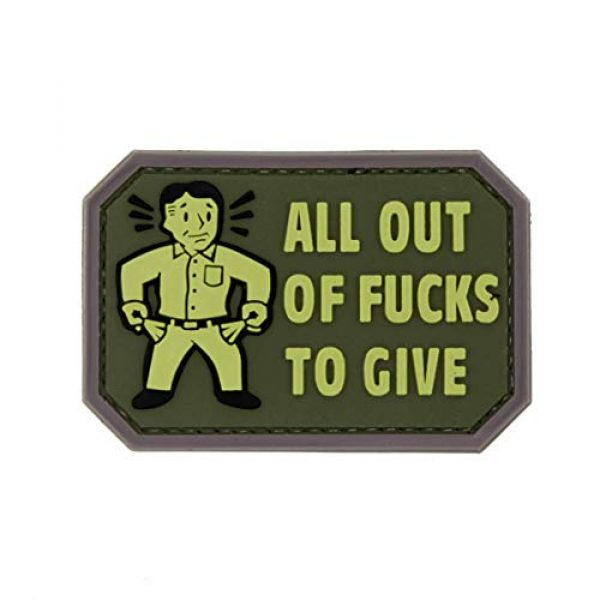 NEO Tactical Gear Airsoft Patch 1 NEO Tactical Gear All Out of Fucks to Give PVC Rubber Morale Patch - Military and Airsoft Offensive Funny Morale Patch Hook Backed
