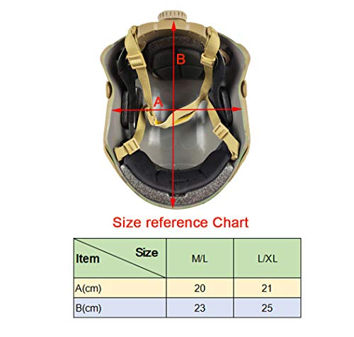 ATAIRSOFT Airsoft Helmet 5 ATAIRSOFT MH Type Tactical Paintball Adjustable Fast Helmet w/Side Rails and NVG Mount Multicam MCˆM/L