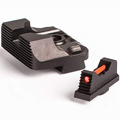Higoo Airsoft Gun Sight 4 Higoo Tactical Fiber Optic Handgun Pistol Sight Front/Rear Set for Glock