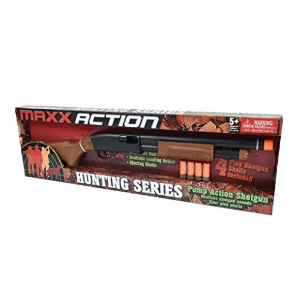 Sunny Days Entertainment  2 Sunny Days Entertainment Pump Action Shotgun with Realistic Sounds and Ejecting Play Shells | Hunting Role Play Toy | Cowboy Costume for Kids Maxx Action