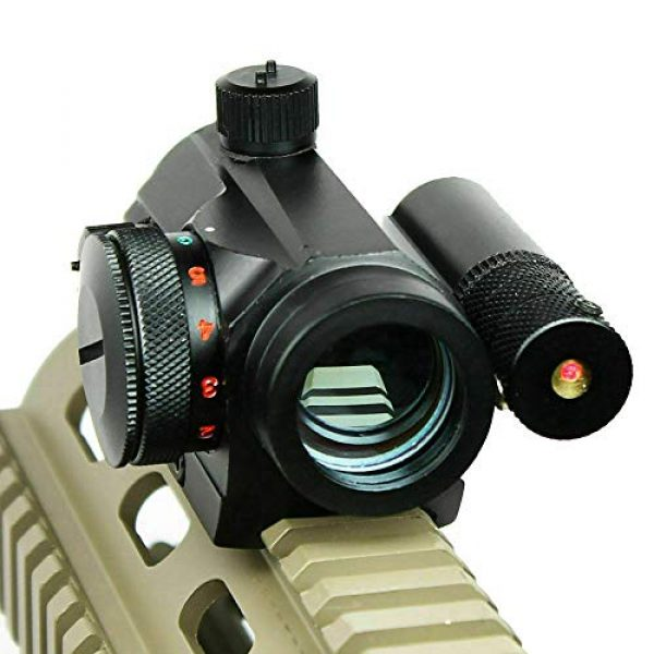 Sniper Airsoft Gun Sight 3 Sniper RD20LR Holographic Reflex Sight with Red Laser 5 MOA Red Dot Fit 20mm Picatinny Rail