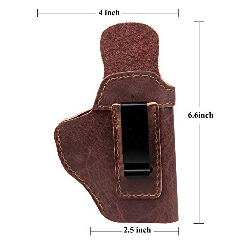 Ree Handmade  5 Ree Handmade Glock 26 IWB Holster Concealed Carry Natural Water Buffalo Hide Soft Sided Leather