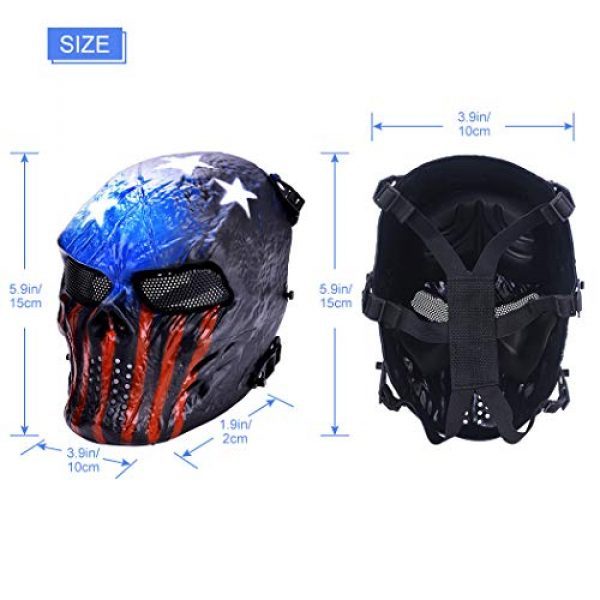Outgeek Airsoft Mask 7 Outgeek Tactical Airsoft Mask Full Face Costume Mask(Urban)