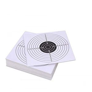 Pop Resin Airsoft Target 1 Pop Resin 100 Pack - Air Shot Paper Targets - 5.5 by 5.5 - Fits Gamo Cone Traps and Metal Box BB Catcher Target Holder Pellet Trap for Air Rifle/Airsoft Pistol (White)