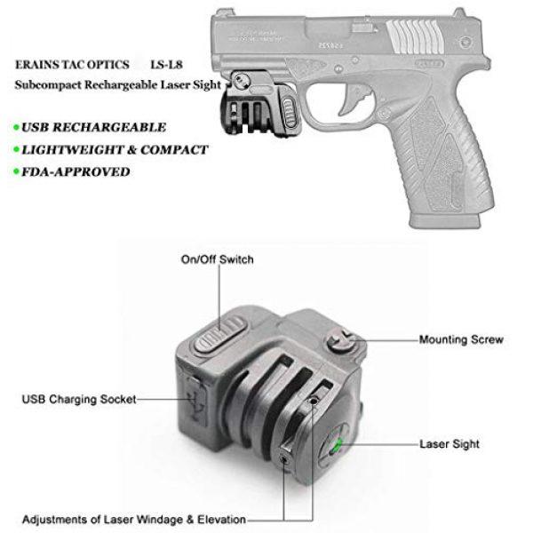 Warhuntusa Airsoft Gun Sight 2 Warhuntusa Green Laser Sight for Subcompact Pistols & Compact Handguns