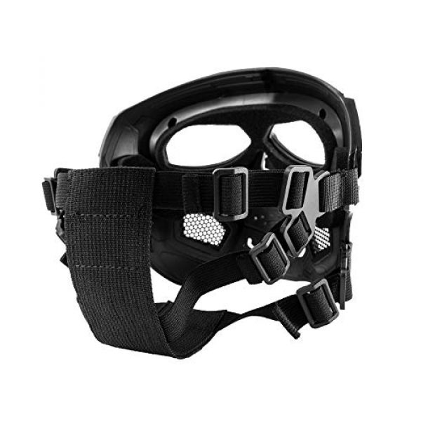 Black Orca Airsoft Mask 3 Black Orca Skull Full-Face Mask for Airsoft Helmet