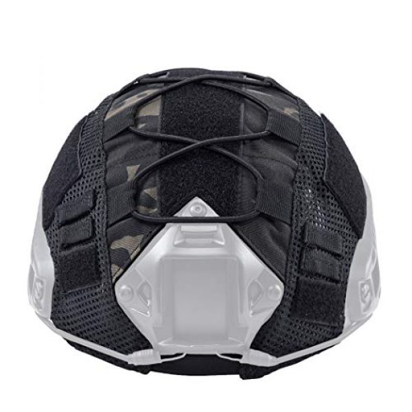 IDOGEAR Airsoft Helmet 2 IDOGEAR Tactical Helmet Cover Camouflage Cover for Fast Helmet in Size M/L Airsoft Paintball Hunting Shooting Gear 500D Nylon