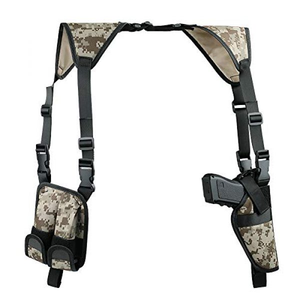 TW TWOD  1 Twod Shoulder Holster Ambidextrous Vertical Concealed Carry Shoulder Holster with Dual Magazine Holder Fits Most Pistols or Handgun