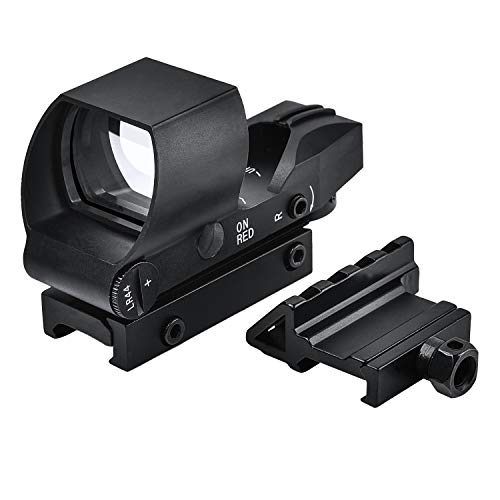 EZshoot Airsoft Gun Sight 1 EZshoot Reflex Sight 4 Reticles Green and Red Dot Sight with 45 Degree Rail Mount