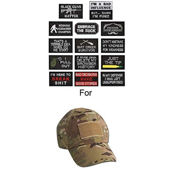 WZT Airsoft Morale Patch 5 WZT 14 Pieces Funny Tactical Morale Military Patch Full Embroidery Patch Set for Caps,Bags,Backpacks,Clothes,Vest,Military Uniforms,Tactical Gears Etc.