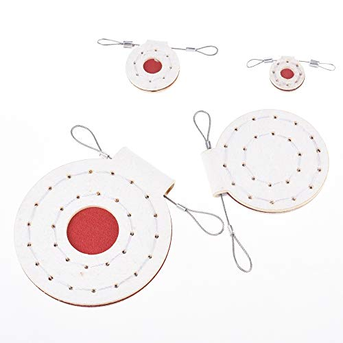 Bluecell World Airsoft Target 4 Bluecell 6pcs Assorted Size 5.5MM Thickness Fabric Pad Airsoft Slingshot Target for Adult Shooting Outdoor Hunting Accessories