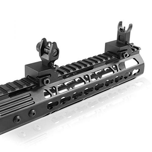 OTW Airsoft Gun Sight 7 OTW Flip Up Iron Sights Flip Up Front Sight + Back Up Rear Sight Mounts Set for Gun Rifle Handgun Airsoft