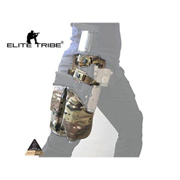 Elite Tribe  2 Elite Tribe MP7 Tactical Leg Holster Shooting Pistol Drop Pouch Multicam Camo Gun Holder Left Right Hand