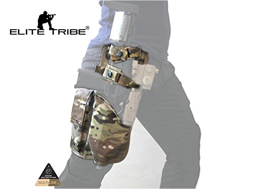 Elite Tribe  2 Elite Tribe MP7 Tactical Leg Holster Shooting Pistol Drop Pouch Multicam Camo Gun Holder Left Right Hand