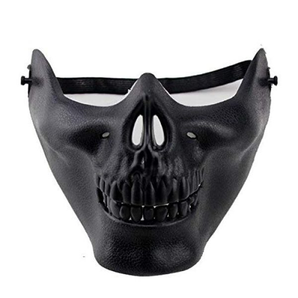 FENGLENG Airsoft Mask 1 FENGLENG Skull Skeleton Half Face Mask Hard Protective Gear Airsoft Paintball Hunting CS Wargame Masquerade Costume Party Halloween etc.