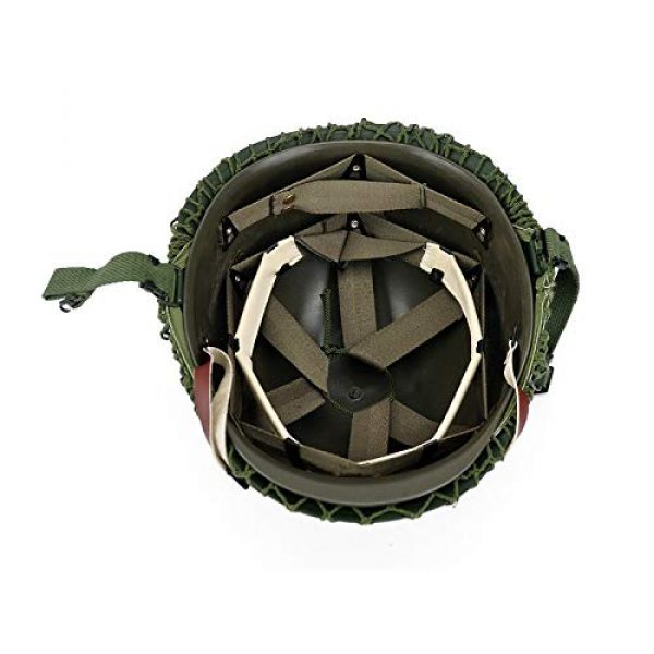 BYHai Airsoft Helmet 3 BYHai WWII US Army M1 Green Helmet Replica Adjustable with Net/Canvas Chin Strap Tactical Paintball Gear for Adults