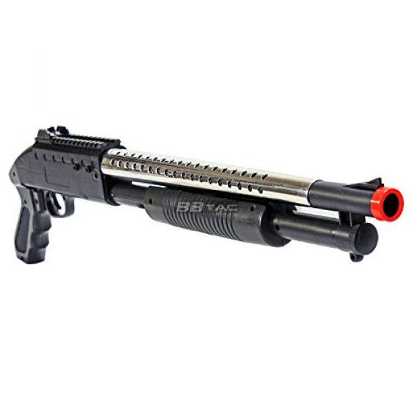 BBTac  4 bbtac airsoft shotgun pump action (starter shotgun series) - pistol grip airsoft shotgun - high bb capacity - 300 fps+ w/ 6mm 0.12g bbs with bbtac warranty & tech support(Airsoft Gun)