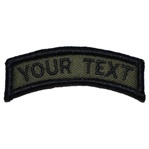Tactical Gear Junkie Airsoft Morale Patch 1 Custom Text Tab Patch with Hook Fastener Patch (Olive Drab/OD)