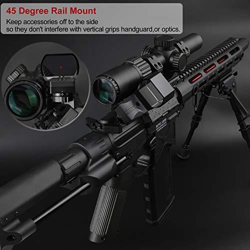 Feyachi Airsoft Gun Sight 3 Feyachi Reflex Sight Red & Green Dot Gun Sight Scope 4 Reticles with 45 Degree Rail Mount