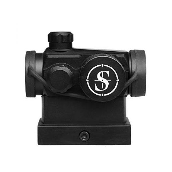Sniper Airsoft Gun Sight 3 Sniper RD20H Reflex Red Dot Sight Scope 3 MOA with High Profile Rail Mount Fit Picatinny Rail