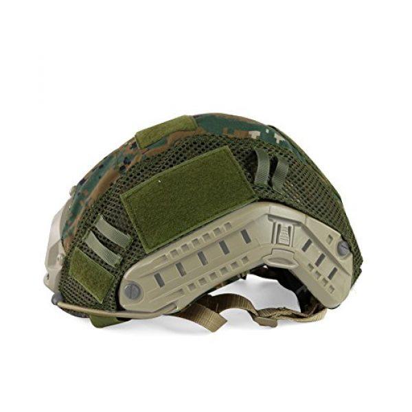 ATAIRSOFT Airsoft Helmet 6 ATAIRSOFT Airsoft Tactical Military Combat Helmet Cover for PJ/BJ/MH Type Fast Helmet Back Pouch (DW)