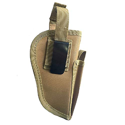 600D Nylon Ambidextrous Tactical Pistol Holster with Magazine Holder Waist Holster for Men and Women