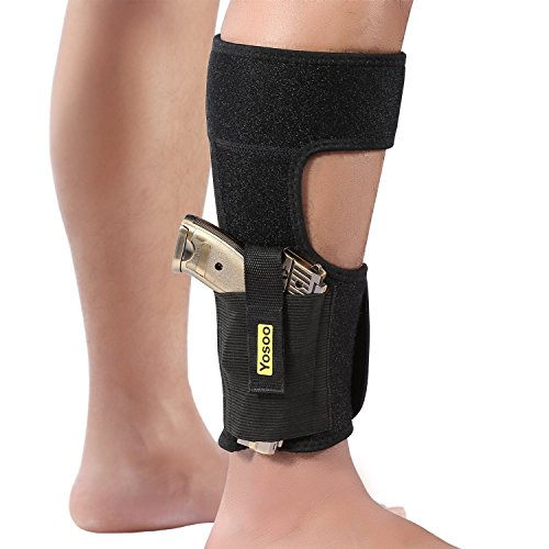 Haofy  1 Haofy Concealed Ankle Gun Holster with Magazine Pouch Compatible with Glock 26 27 30 42 43 LCP 380