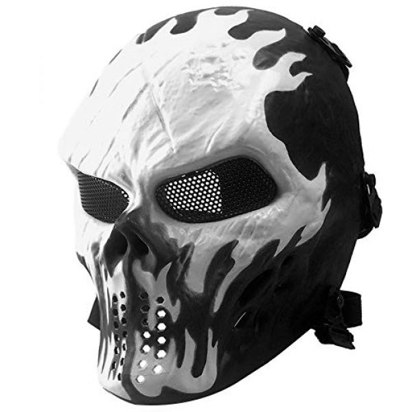 Tactical Skull Mask with Metal Mesh Eye Protection