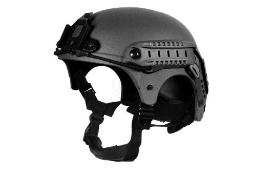 G-Force Tactical IBH Airsoft Helmet 1 G-Force Tactical IBH Airsoft Helmet w/ NVG Shroud & Side Rails - BLACK