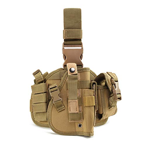ESA Supplies  1 ESA Supplies Molle Airsoft Holster with Magzine Pouch Drop Leg Holsters Tactical Thigh Holsters for Glorck G17 G18 G19 G26 G34 M1911