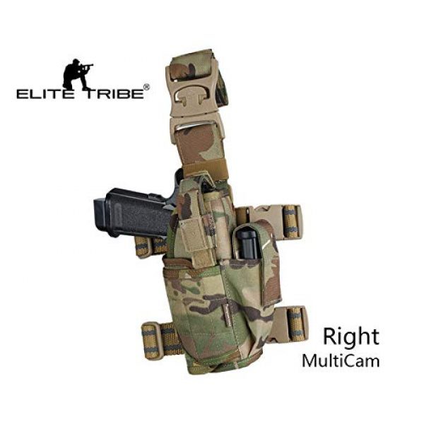 Elite Tribe  2 Elite Tribe Airsoft Hunting Pistol Holster Tactical Tornado Universal Tactical Thigh Holster Multicam