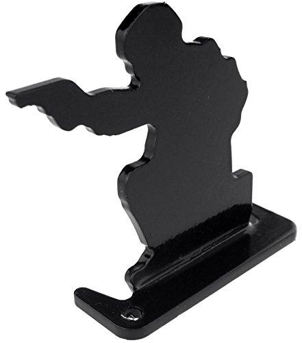 SportPro Airsoft Target 3 SportPro Full Steel Soldier Shooting Targets Type A 6 pcs for AEG GBB Airsoft Black