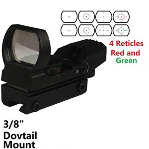 GOTICAL Airsoft Gun Sight 1 GOTICAL Red and Green Reflex Sight with 4 Reticles