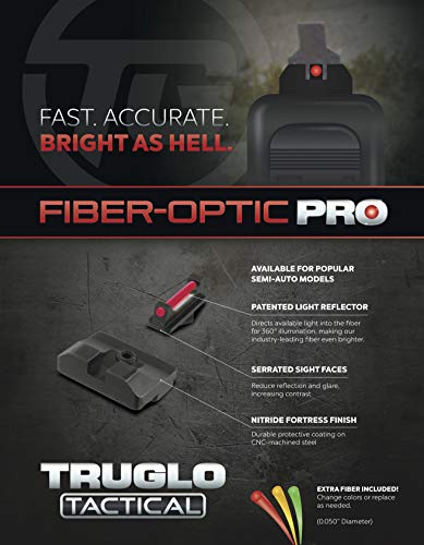 TRUGLO Airsoft Gun Sight 3 TRUGLO Fiber-Optic PRO Competition High Visibility Handgun Sights
