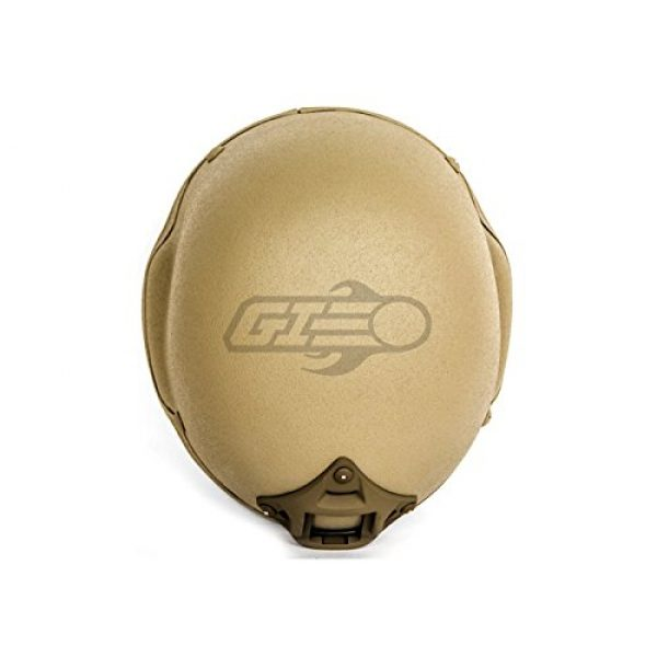 Lancer Tactical Airsoft Helmet 6 Lancer Tactical CA-727 MICH 2002 Safety Airsoft Helmet w/ NVG Mount (Tan)